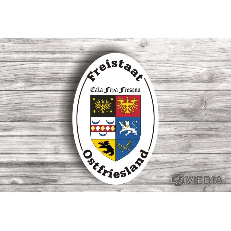 Aufkleber mit Aufschrift »Freistaat Ostfriesland«